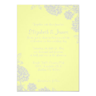 Elegant Yellow Wedding Invitations
