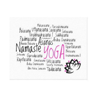 Elegant Yoga Decor Stretched Canvas Prints