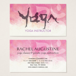 Elegant YOGA Human Alphabet Letters Om Symbol Business Card