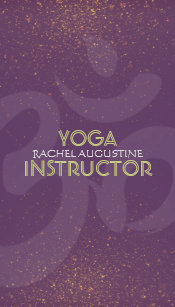 Purple and gold business cards business card printing zazzle ca elegant yoga instructor om symbol purple and gold business card colourmoves
