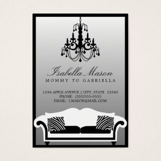 Elegant Zebra Mommy Calling Card