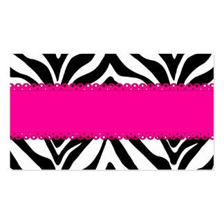 Elegant Zebra Print Custom Pink Place Cards Business Card