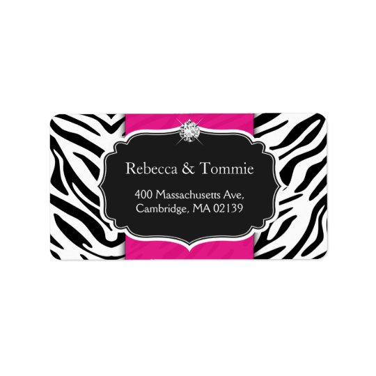 Elegant Zebra Print Hot Pink Wedding Baby Shower