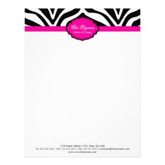 Elegant Zebra Print Letterhead