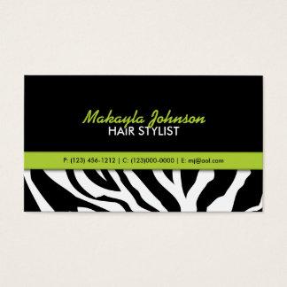 Elegant Zebra stripes Modern & Stylish Business Card