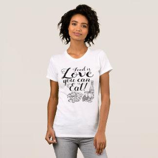 Elegante Love Script Foodie T-Shirt