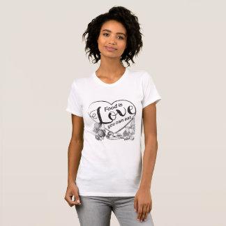Elegante Outline Heart Foodie T-Shirt