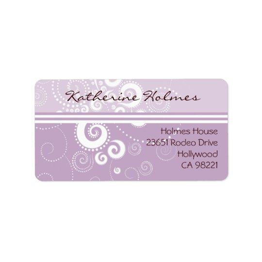 Elegante Purple Polka Dots Address Label