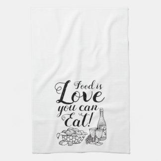 Elegante Script Kitchen Towel
