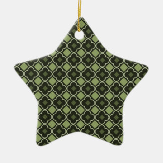 Elegantly Designed Seamless Cross Pattern Ceramic Star Ornament