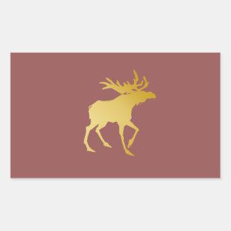 Elegantly Luxurious Gold Antler Deer