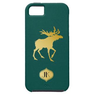 Elegantly Luxurious Gold Antler Deer iPhone 5 Case