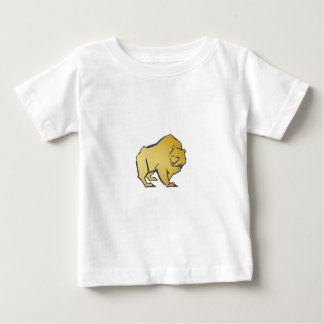Elegantly Luxurious Gold Bear Baby T-Shirt