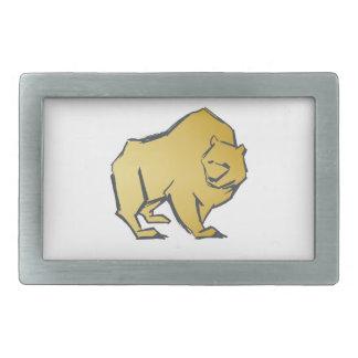 Elegantly Luxurious Gold Bear Belt Buckle