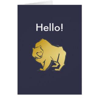 Elegantly Luxurious Gold Bear Card