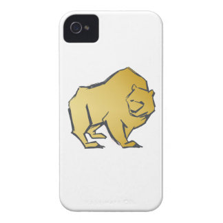Elegantly Luxurious Gold Bear iPhone 4 Case-Mate Case