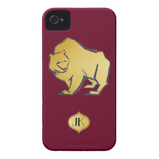 Elegantly Luxurious Gold Bear iPhone 4 Covers