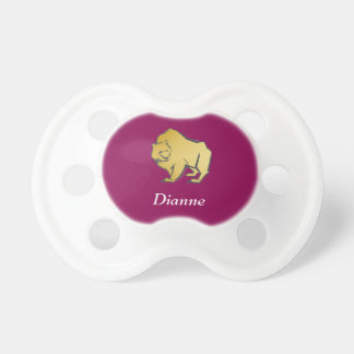 Elegantly Luxurious Gold Bear Pacifier