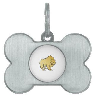 Elegantly Luxurious Gold Bear Pet Tags