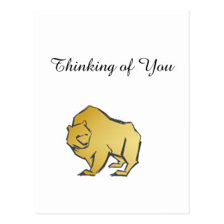 Elegantly Luxurious Gold Bear Postcard
