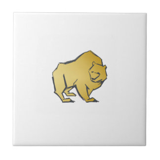 Elegantly Luxurious Gold Bear Tile