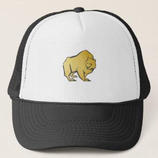 Elegantly Luxurious Gold Bear Trucker Hat