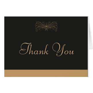 Elegantly thank you card