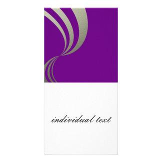 eleganza 01 violet custom photo card