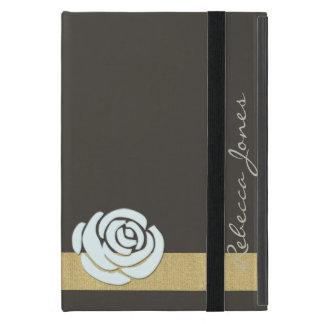 Elegent Floral Glamour Monogram iPad Case