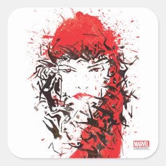 Elektra - Blood of her enemies Square Sticker