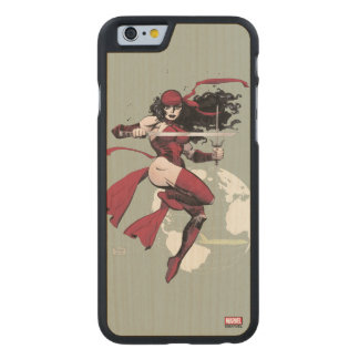 Elektra Traveling The World Carved Maple iPhone 6 Case