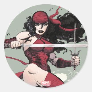 Elektra Traveling The World Round Sticker