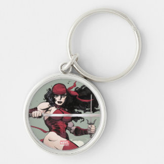Elektra Traveling The World Silver-Colored Round Keychain