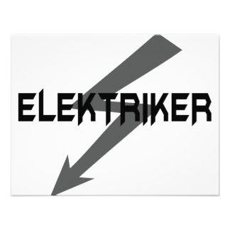 elektriker icon custom invitations