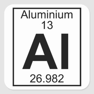 Element 013 - Al - Aluminium (Full) Square Sticker