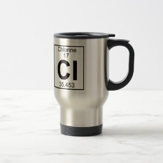 Element 017 - Cl - Chlorine (Full) Travel Mug