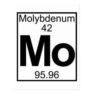 Element 042 - Mo - Molybdenum (Full) Postcard
