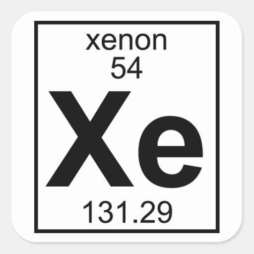 Xenon Periodic Table Element 054 - Xe - Xen...