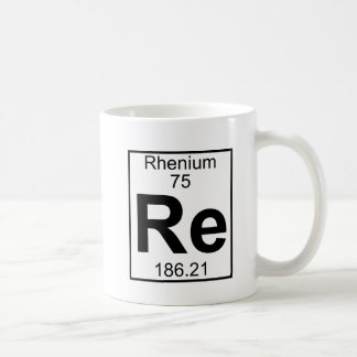 Element 075 - Re - Rhenium (Full) Coffee Mug