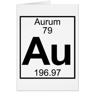 Element 079 - Au - Aurum (Full) Card
