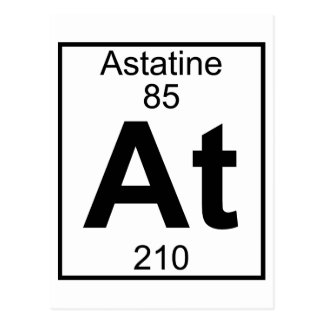 Element 085 - At - Astatine (Full) Postcard