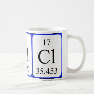 Element 17 white mug - Chlorine