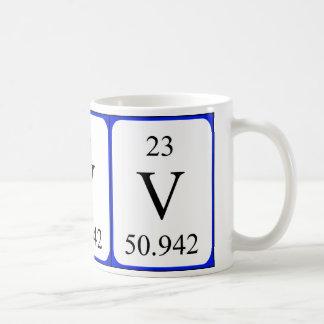 Element 23 white mug - Vanadium