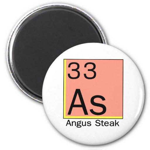 Element 33: Angus Steak Refrigerator Magnets