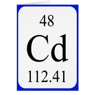 Element 48 card - Cadmium white