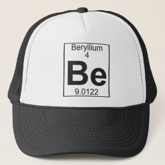 Element 4 - be (beryllium) trucker hat