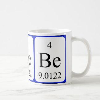 Element 4 white mug - Beryllium