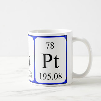 Element 78 white mug - Platinum
