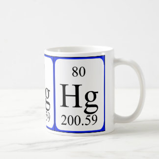 Element 80 white mug - Mercury