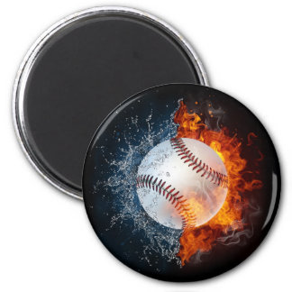 Element Baseball 2 Inch Round Magnet